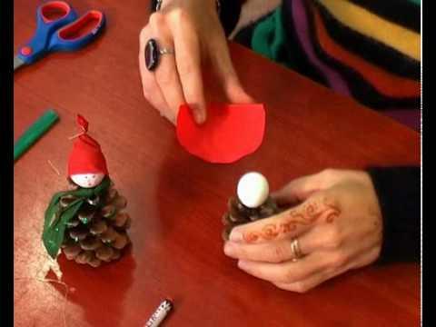 Karácsonyi tobozmanó készítése