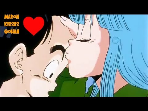 Gohan gets his First Kiss from Maron as Krillin gets ...