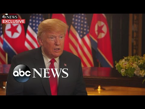 President Donald Trump opens up about historic summit in exclusive interview with ABC News