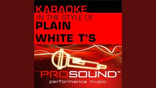 Hey There Delilah Karaoke Instrumental Track In The Style Of Plain White T 39 S