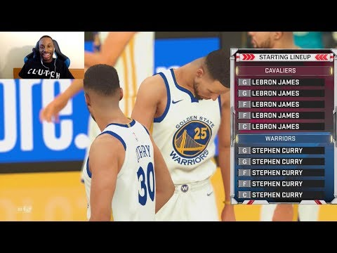 15 Stephen Curry's vs 15 LeBron James! YES FIFTEEN! WHO WILL WIN!? OT THRILLER! NBA2K18!