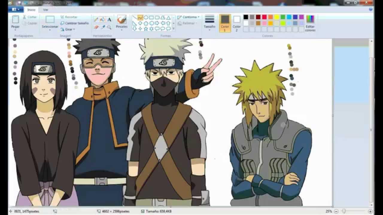 Team Minato Drawing Dibujando al Team Minato