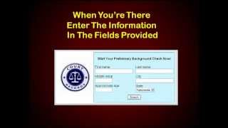 FREE Online Background Check - Check Backgrounds Online For FREE