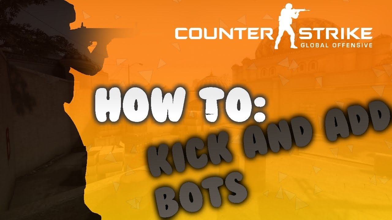 How To Kick And Add Bots On CS:GO (how to have a 1v1) HD
