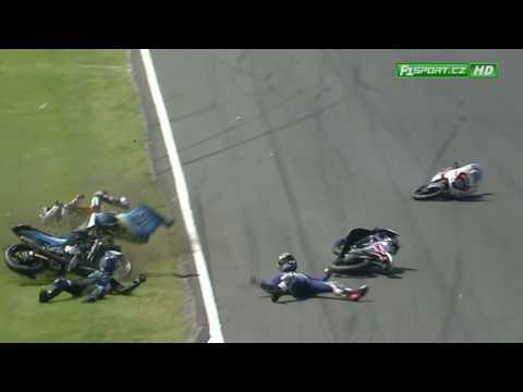 Moto3 Australian GP - Phillip Island crash Mcphee - Bastianini - Migno