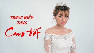 Trang điểm cô dâu xu hướng 2018 - Tông Cam nhẹ, kiểu nhấn hốc