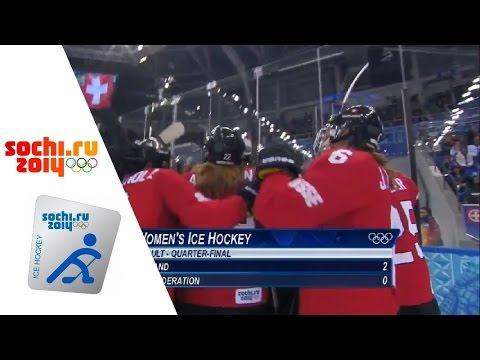 XXII Зимние Олимпийские Игры.Хоккей.Женщины.Четвертьфинал.Россия-Швейцария.