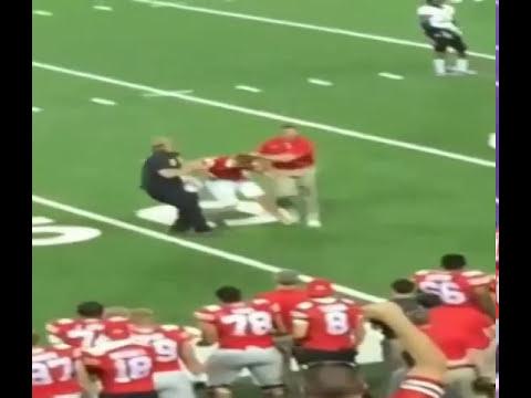 Ohio State coach body slams fan | Buckeyes Coach Tackles fan | OSU coach tackles fan