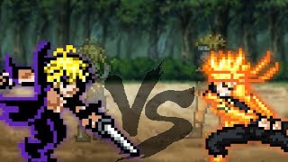 Naruto vs Meliodas (sprite animation)