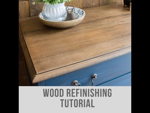 DIY Strip and Refinish Wood Furniture with Water Based Stain
