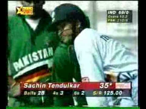 1998 Independence Cup India vs Pakistan Sachin 95 vs Pak