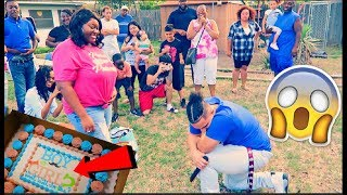 GENDER REVEAL TURNS INTO A EMOTIONAL SURPRISE PROPOSAL!!!  *HE CRIED*