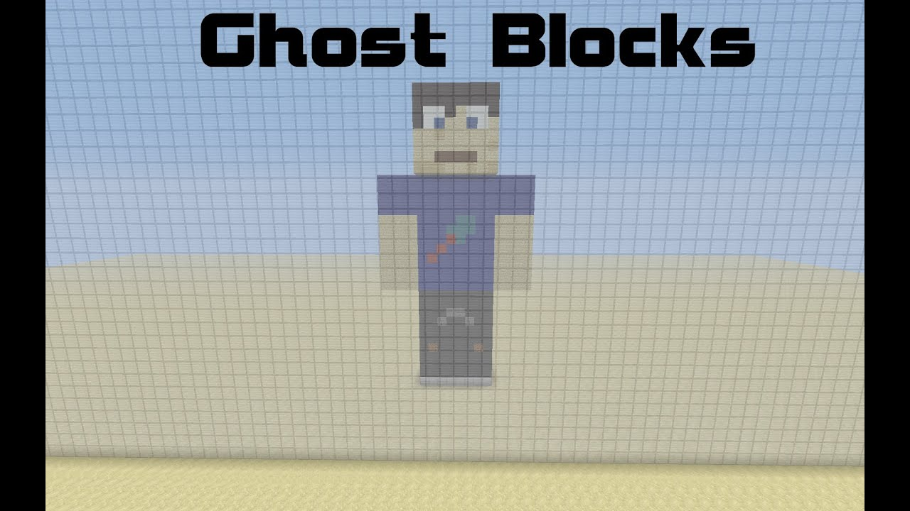 how to make ghost block in minecraft