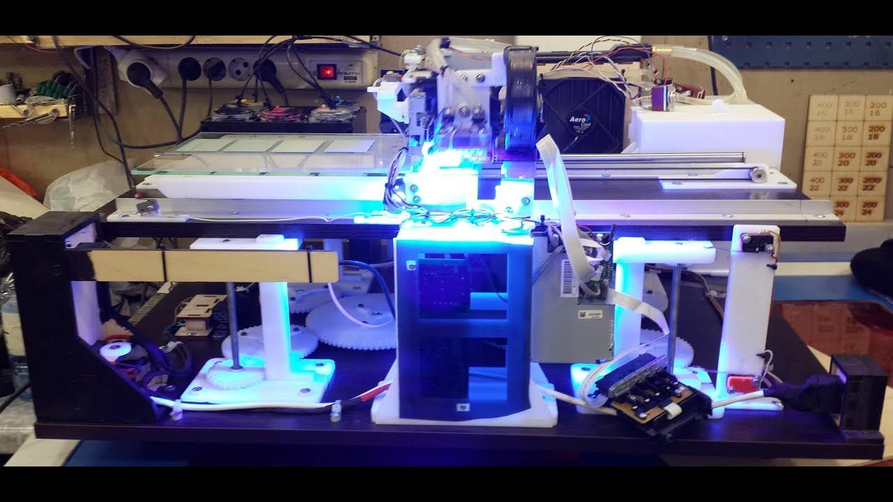 Ультрафиолетовый принтер своими руками 88