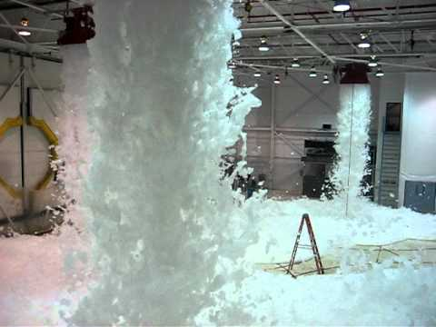 Fire Sprinkler Foam Test In Airplane Hangar Youtube
