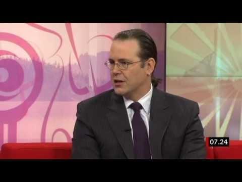 Anders Borg (M) intervjuas om Grekland i november 2012