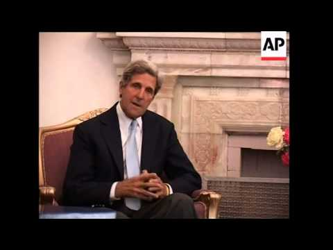 Senator Kerry in talks with Karzai