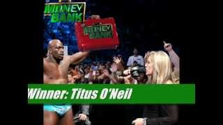 My WWE Money in the Bank (2012) Results (PLEASE FOR THE LOVE OF GOD, READ THE DESCRIPTION)