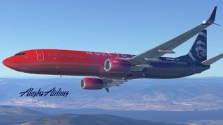 Alaska Airlines - Virgin (Boeing B737-900) - TakeOff & Landing