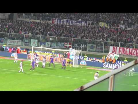 Fiorentina vs Juventus 0-5 settore ospiti 17/03/2012