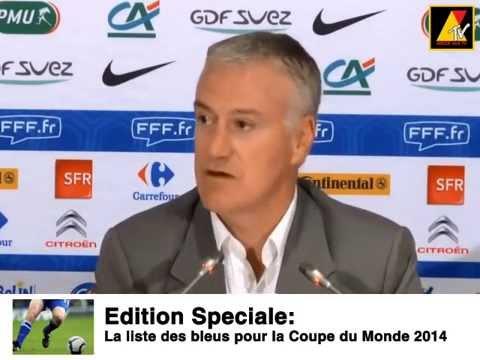 Liste Equipe de France 2014 - Didier Deschamps