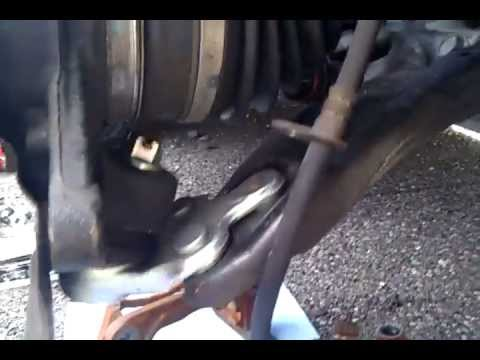 Using torque wrench and crowfoot on ball joint