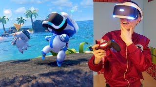 PLAYSTATION VR GAME TIME! | Astro Bot: Rescue Mission (PSVR + VRGO Gameplay) Part 3