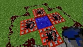 Minecraft - Tutorial de Redstone: 3 Tipos de cañones [Humano, de flechas y TNT] (HD 720p)