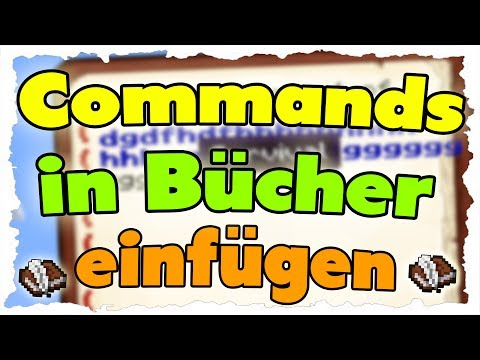 Commands In Bücher Einfügen & Farbig Schreiben - MINECRAFT 1.8 Tutorial