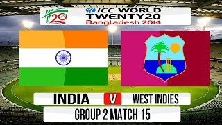 (Cricket Game) ICC T20 World Cup 2014 Super 8 - India v West Indies Group 2 Match 15