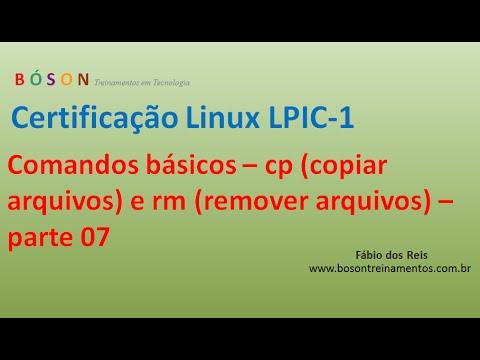 Comandos Básicos Linux 07 - cp (copiar arquivos) e rm (remover arquivos)
