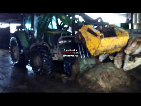 how to open silage bales with just the shear grab