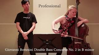 Professional vs Beginner Double Bassist