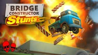 BRIDGE + BOOM!   Bridge Constructor Stunts Gameplay #1
