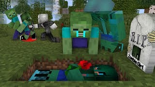 Monster School : RIP Zombie Girl | Zombie Life 7 - Minecraft Animation
