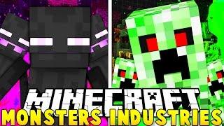 CRAZIEST MINECRAFT BUSINESS EVER! - Minecraft MONSTERS INDUSTRIES - 2VS2 MONEY WARS SHOWDOWN