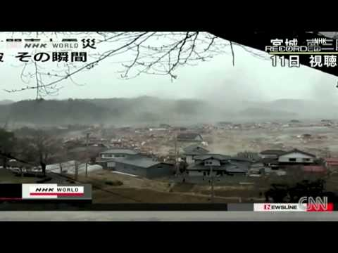 Houses Are Floating In The Tsunami Of Japan video