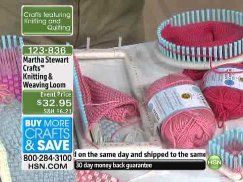 Knitting and weaving loom from martha stewart crafts youtube for Martha stewart crafts knit weave loom kit