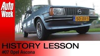 Geschiedenisles Opel Ascona