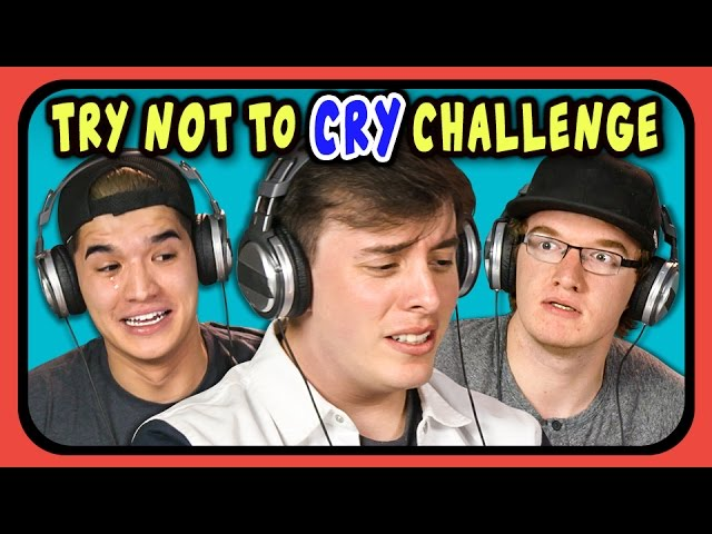 YOUTUBERS REACT TO TRY NOT TO CRY CHALLENGE