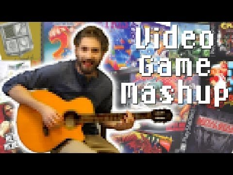 Video Game Theme Classical Guitar Medley - One Minute Mashup #26