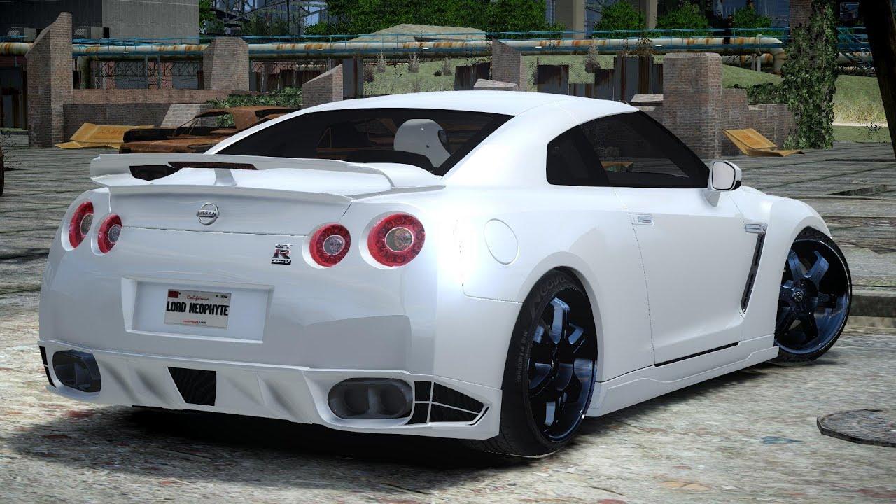 GTA IV 2010 Nissan GT-R R35 SpecV Crash Testing - YouTube