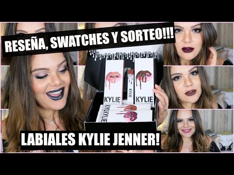 REVIEW + SWATCHES + SORTEO LABIALES KYLIE JENNER | KYLIE LIPSTICKS GIVEWAY♡ Raisa Falcão