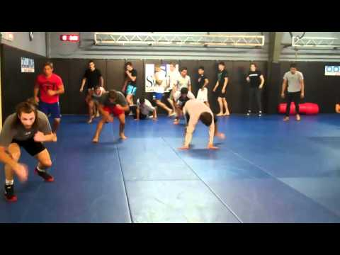 Urijah Faber & Team Alpha Male training Pro MMA