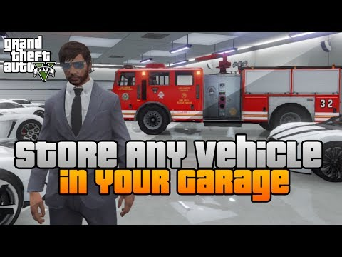 GTA 5 - Store ANY Vehicle in your Garage GLITCH / TRICK ONLINE!