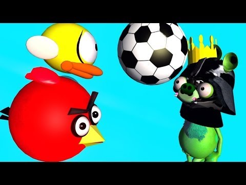 ANGRY BIRDS do SUPER BALL JUGGLING   ♫ 3D animated  FLAPPY BIRD follow up ☺ FunVideoTV - Style ;-))