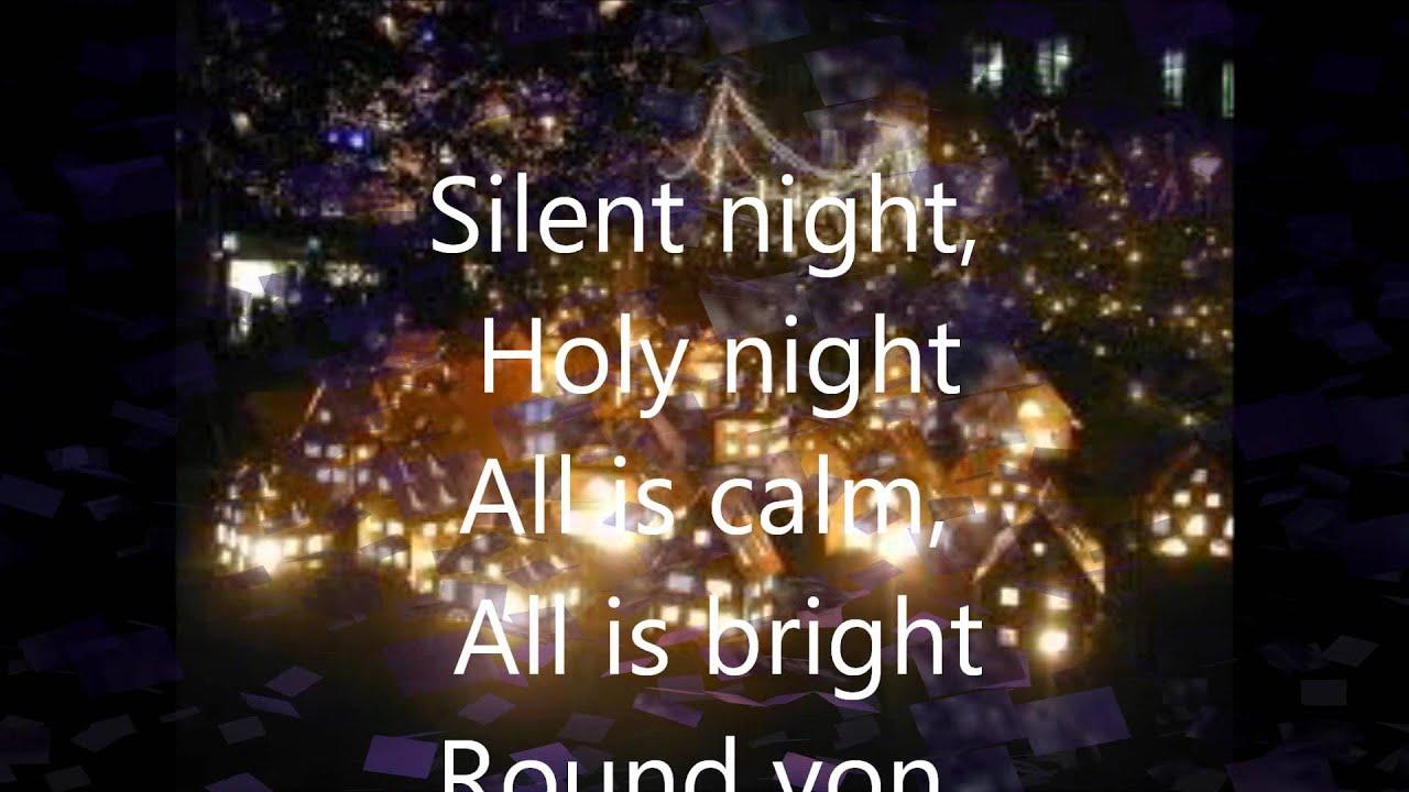 Silent Night(Instrumental + Lyrics in French/English/Italian) - YouTube