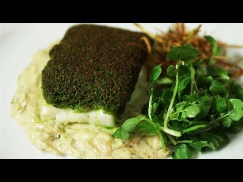 How To Make Herb Encrusted Cod With Creamed Fennel And Crispy Leeks ...