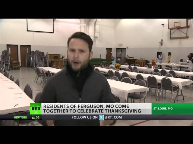 Ferguson residents celebrate Thanksgiving amid unrest