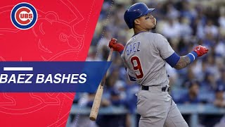 Baez goes 4-for-5 with 2 HRs, 5 RBIs, including slam